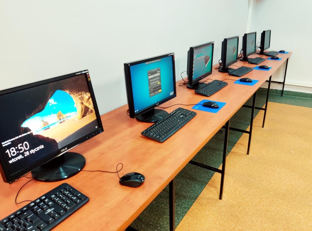 Gródek - pracownia terminalowa w szkole podstawowej