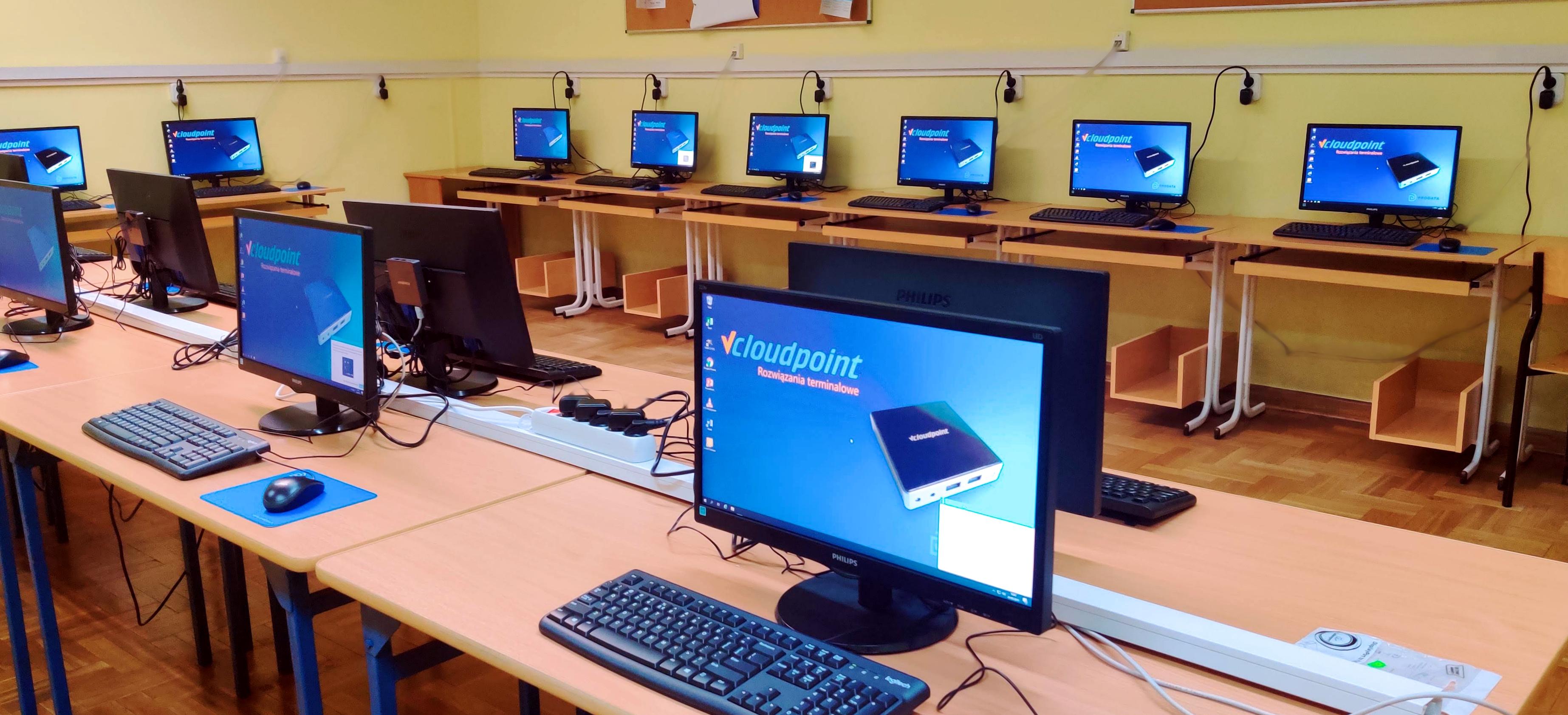 Pracownia informatyczna - terminalowa pracownia komputerowa w szkole podstawowej w Łochowie