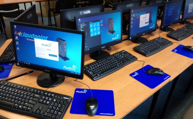 Sala szkoleniowa vCloudPoint - terminale komputerowe V1
