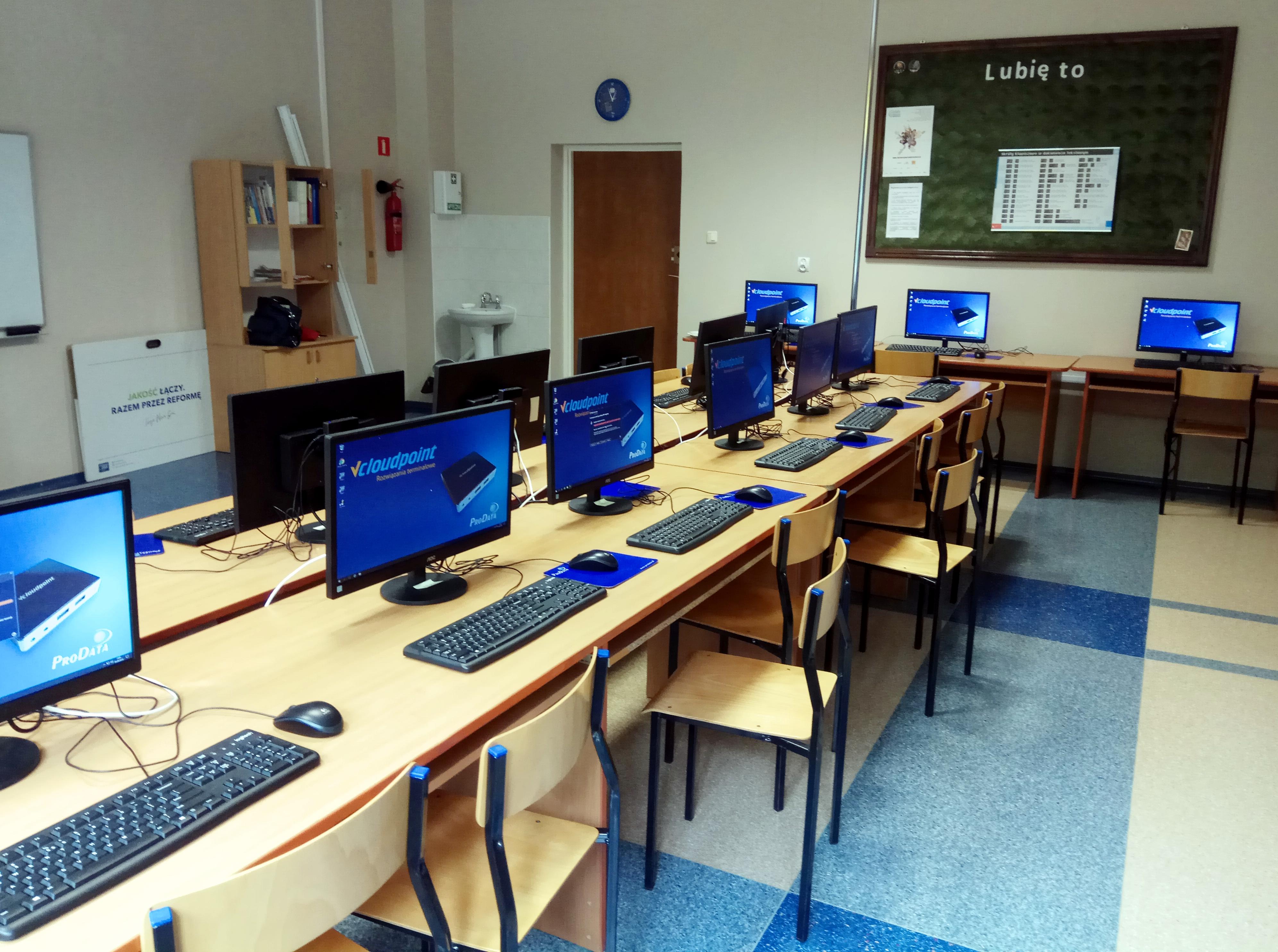 Pracownie Terminalowe vCloudPoint w SP 2 w Małkinii Górnej