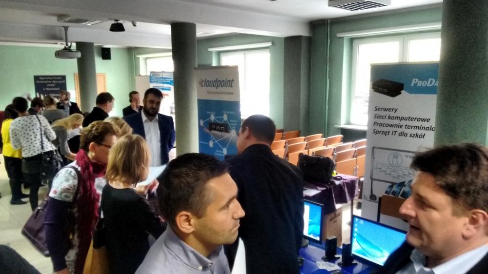 Terminale vCloudPoint na konferencji w Regionalnym Ośrodku Doskonalenia Nauczycieli