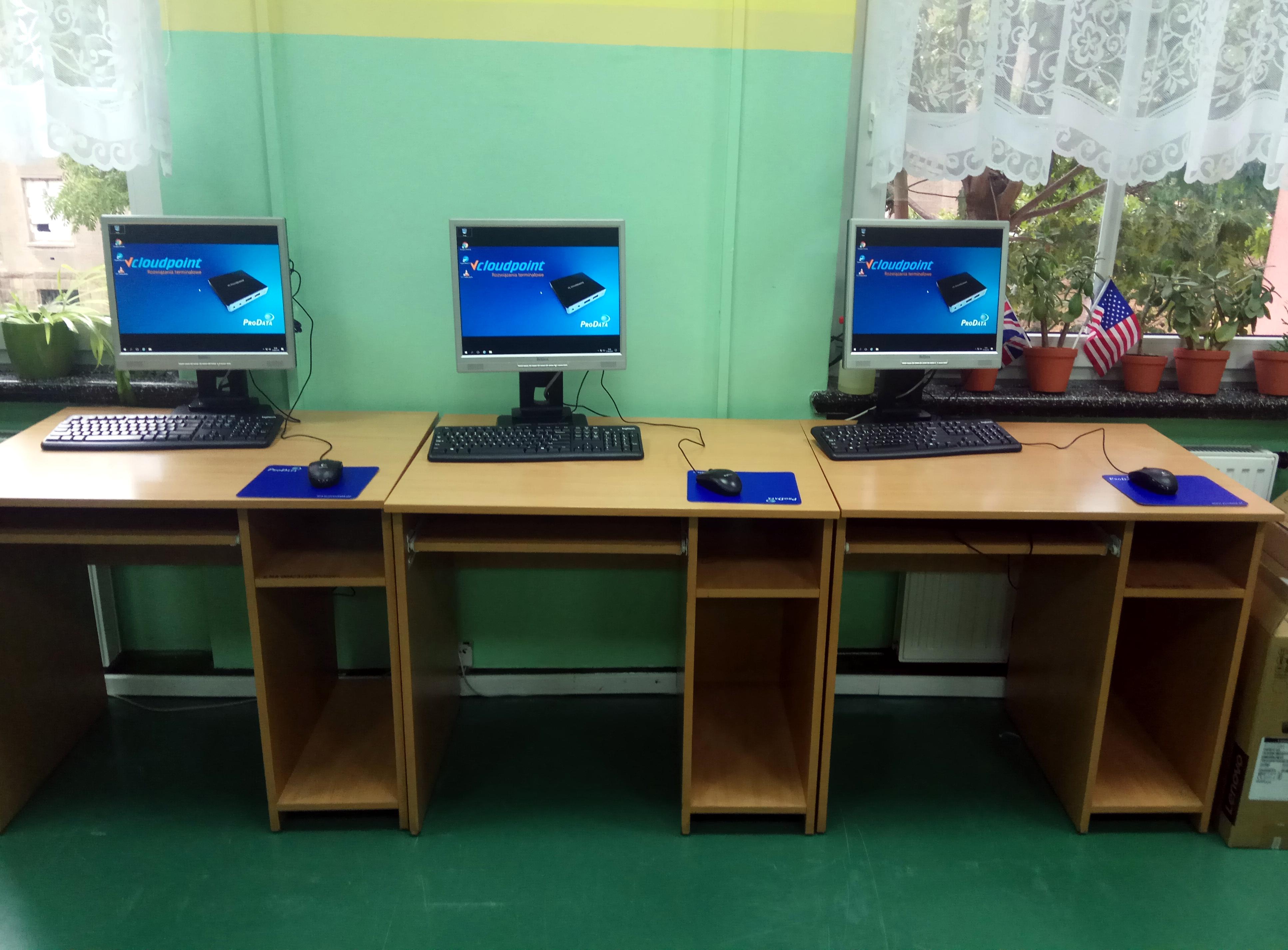 Pracownia terminalowa vCloudPoint w szkole podstawowej w Zgorzelcu