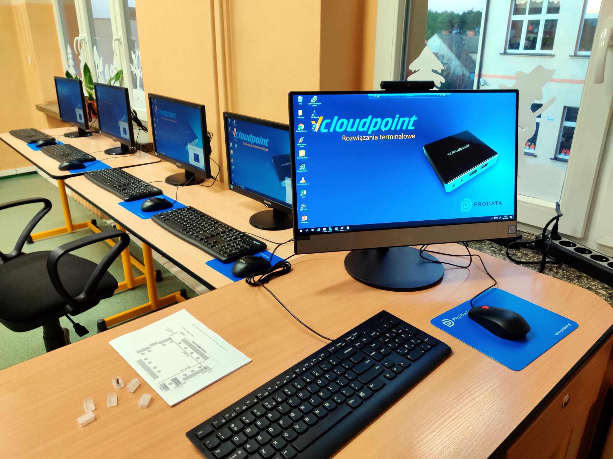 Nowy Tomyśl SP2 - szkolna pracownia komputerowa - terminale vCloudPoint