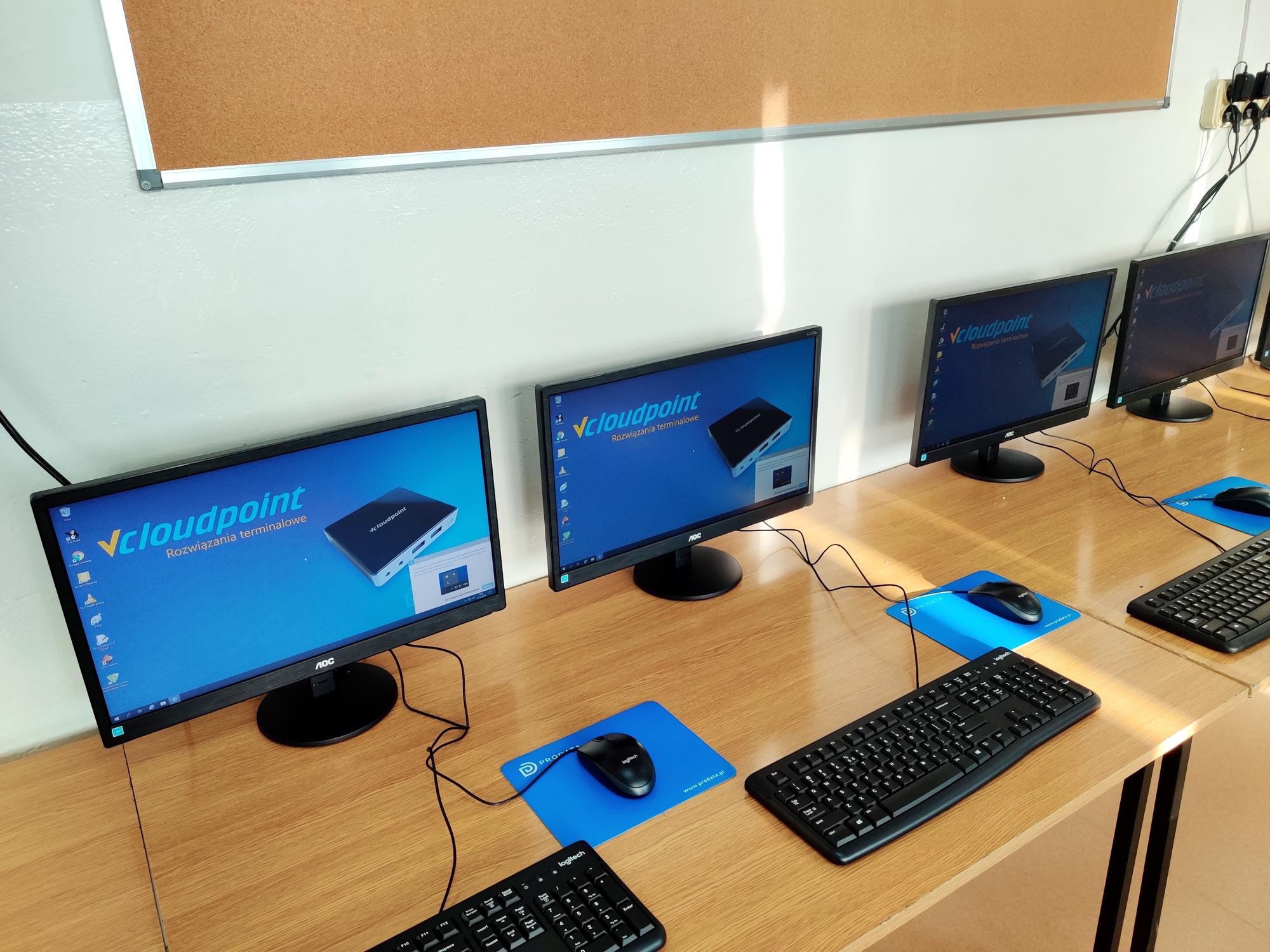 Stanowiska terminalowe vCloudPoint w Szkole Podstawowej w Ostrówku