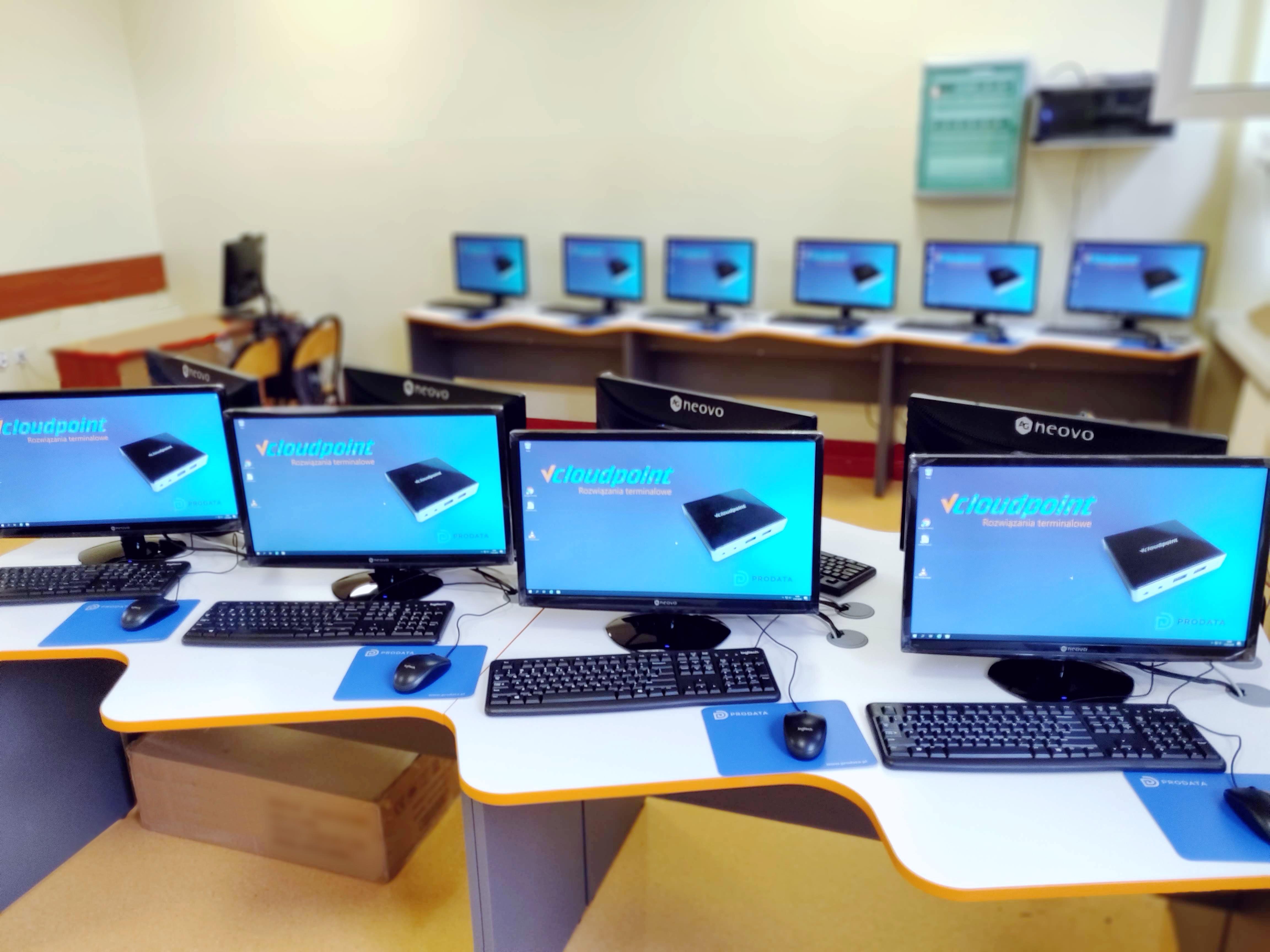 Pracownia komputerowa terminalowa w Pleszewie - terminale vCLoudPoint