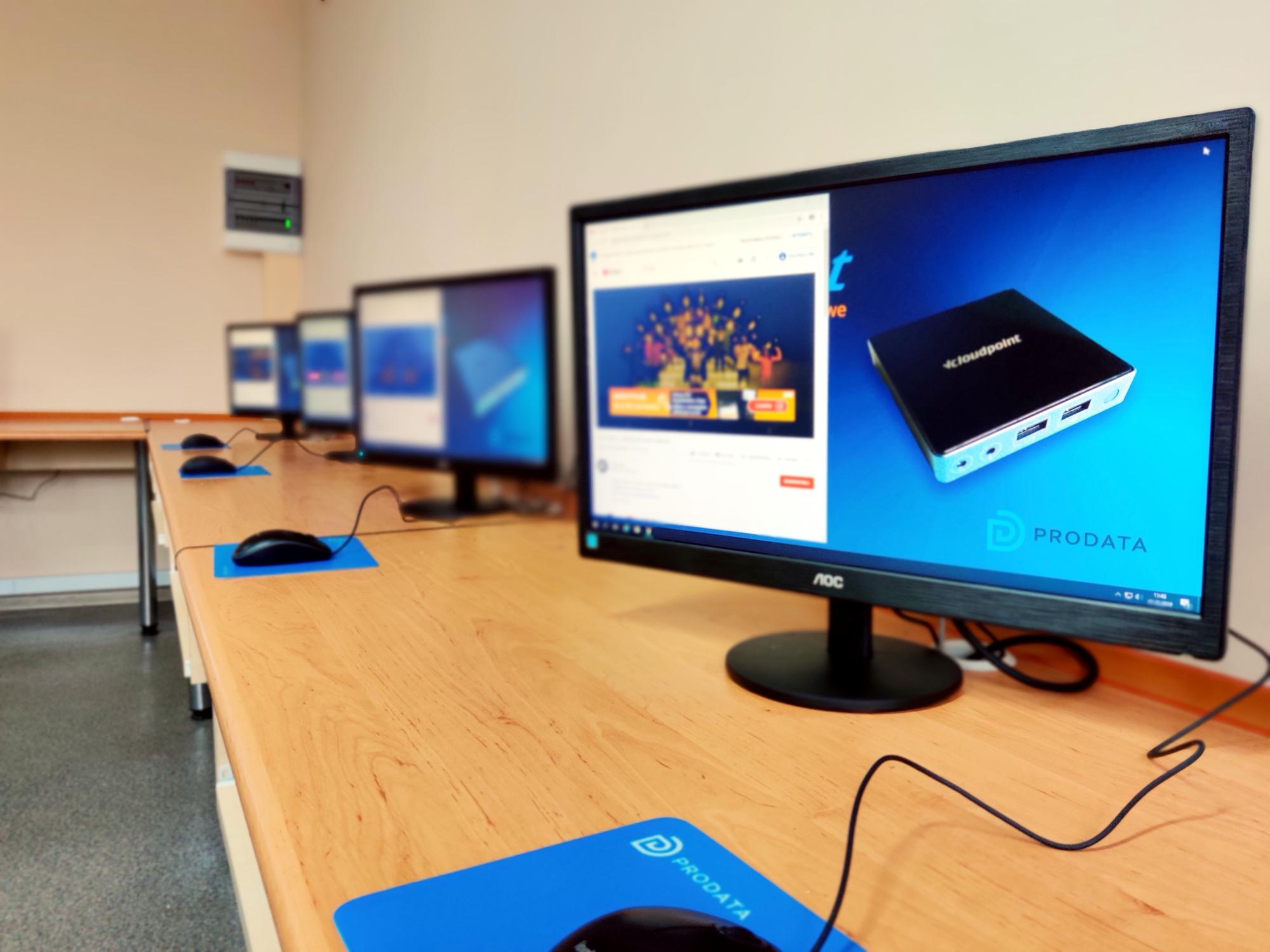 Stanowisko terminalowe vCloudPoint w szkole podstawowej w Połczynie