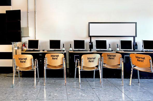 Terminale komputerowe vCloudPoint w miejscach publicznych