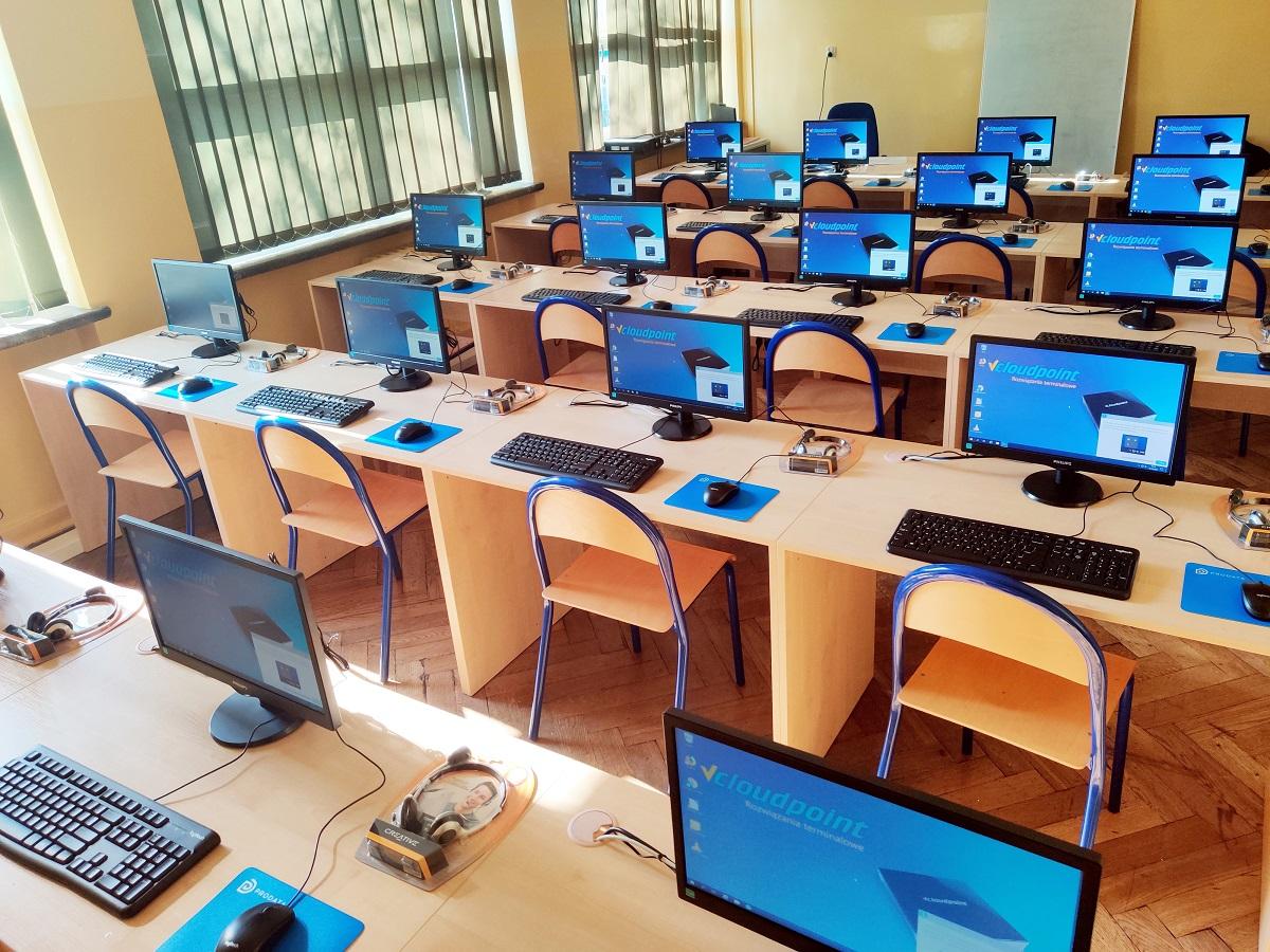 Pracownia komputerowa - terminale vCloudPoint