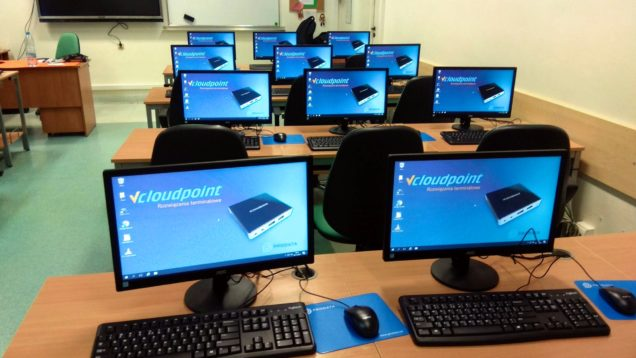 Szkolna pracownia terminalowa vCloudPoint Szkoła Podstawowa we Wrocławiu