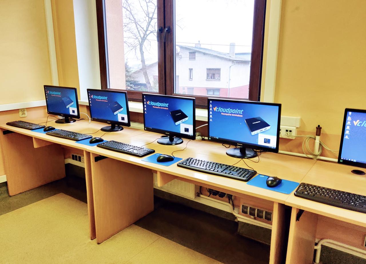 Stanowiska terminalowe vCloudPoint w szkole w Taczanowie