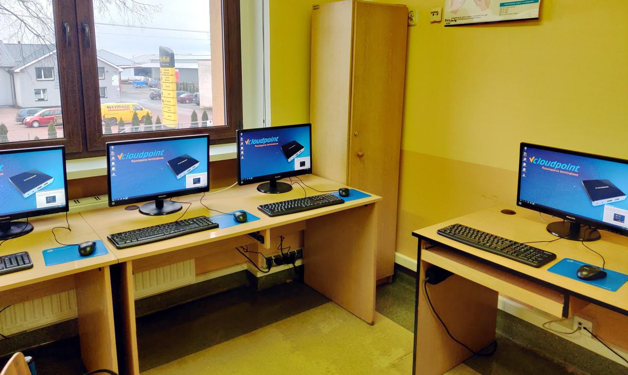 Komputerowa pracownia terminalowa vCloudPoint