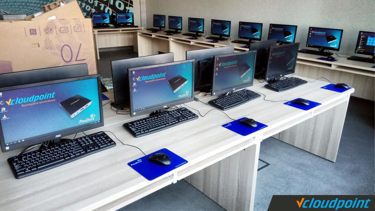 Terminale vCLoudPoint w szkole w Dobrzykowicach