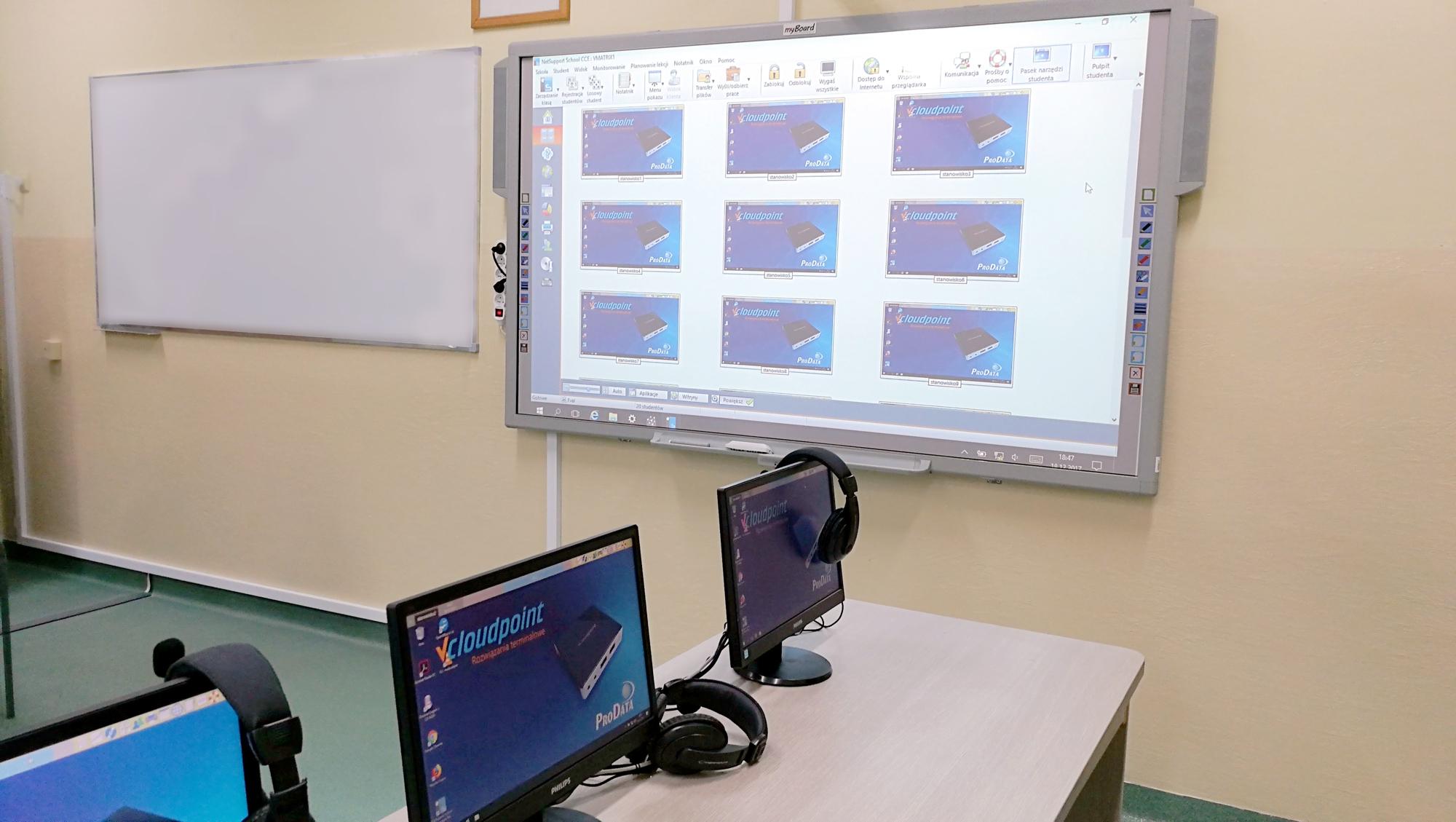 vCloudPoint V1 - szkolna pracownia terminalowa - komputery dla szkół